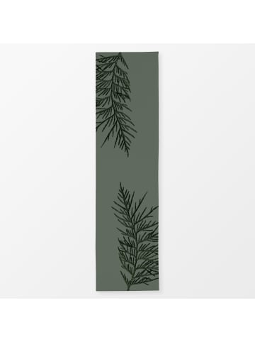 """Textilwerk Tischläufer """"Winter Branches 16X"""" grün"""