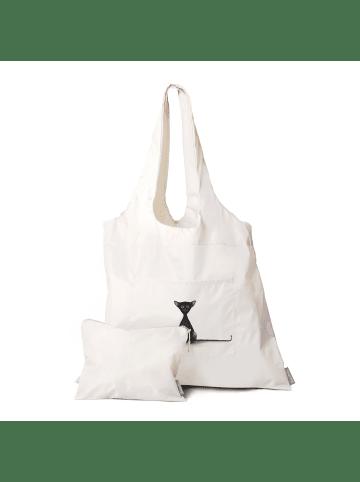 Dori's Prints Tasche in Grau mit Katzenmotiv/ 2er Set - Beutel + Kosmetiktasche