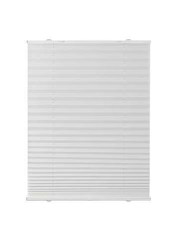 Lichtblick Plissee, Faltrollo 130 cm in Weiß