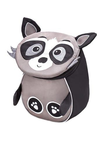 """Belmil Kindergartenrucksack """"Mini Animal Mini Raccoon"""" in Grau/Weiß - H 25 L 18 T 11 cm"""