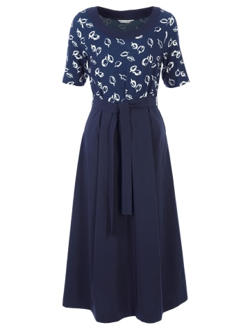 HELMIDGE A-Linien-Kleid mit Print in blau