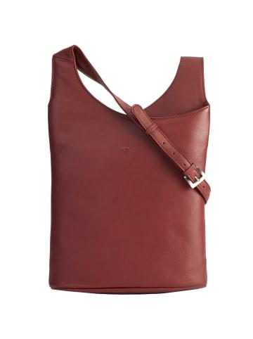 VLD VOi Leather Design Soft Henriette Umhängetasche Leder 29 cm in granat