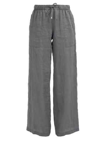 HELMIDGE Leinenhose Langhose in khaki