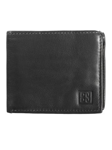 DuDu Geldbörse Leder 12,5 cm in black slate