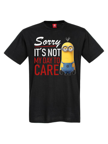 Minions T-Shirt I Don't Care in schwarz