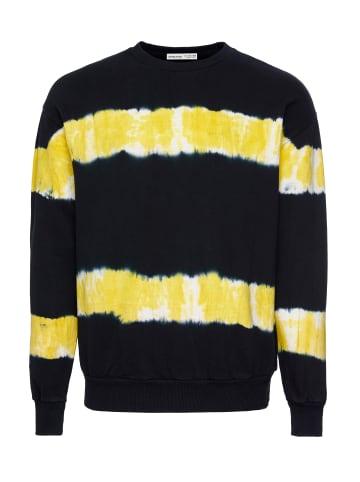 Grimelange Sweatshirt Berkeley in black/yellow