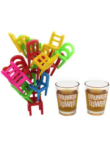 """Winkee Trinkspiel """"Drunken Tower Stühle"""" mit Shooter-Gläser"""