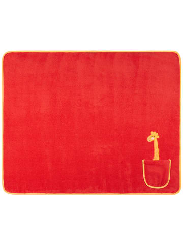 JP Company Kinderdecke mit Tasche in Rot