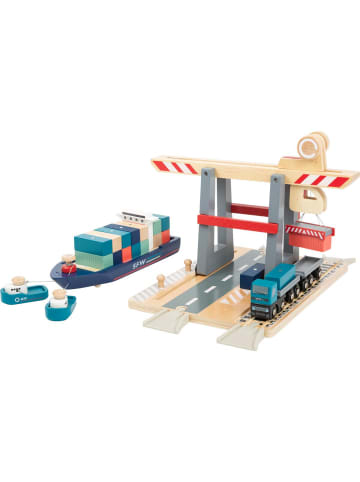 Small foot Container Terminal mit Zubehör in bunt, holz