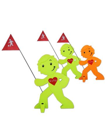 StreetBuddy StreetBuddy Warnfigur für Kindersicherheit in Grün und Orange, 3-er Pack (2/1)