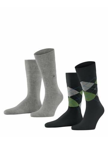 Burlington Socken 2er Pack in Schwarz/Grau