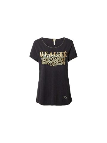 KEY LARGO Rundhals T-Shirt in schwarz