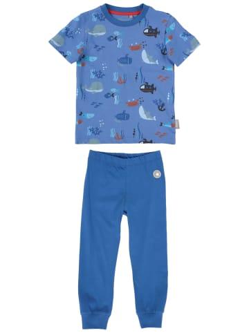 """Sigikid Bio-Baumwoll-Pyjama """"Unterwasserwelt"""" in Blau"""