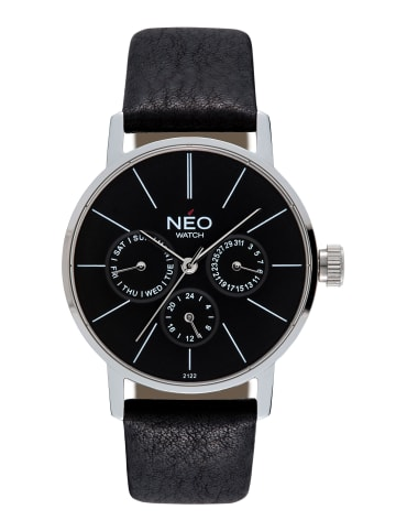 NEO Watch NEO Watch Armbanduhr aus Edelstahl in Schwarz/Silber