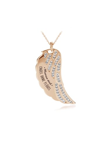 """Himmelsflüsterer  Halskette """"Mamas sind Engel ohne Flügel"""" in Roségold"""