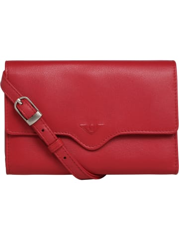 VLD VOi Leather Design Janice Clutch Tasche Leder 17 cm in rot
