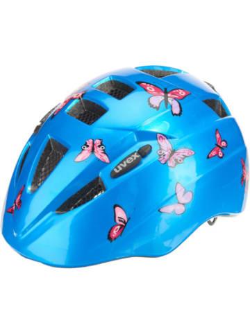 Uvex Fahrradhelm kid 2 butterfly Gr. 46-52, blau/rosa