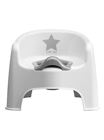 Strata Topfstuhl mit Sticker in Silber