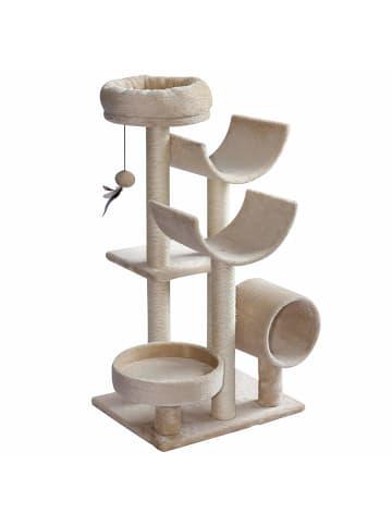 Pawhut Katzen Kletterbaum in Beige
