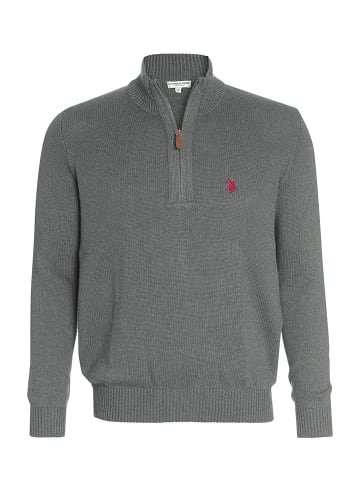 U.S. Polo Assn. Troyer Zip Pullover in ANTHRAZIT