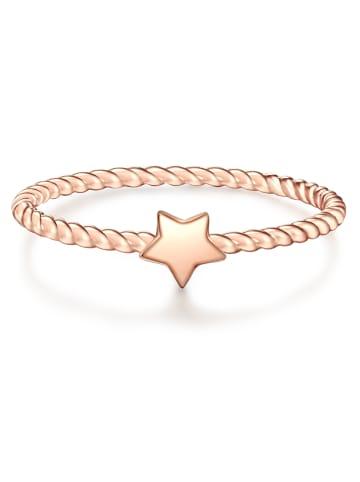 Glanzstücke München Ring Stern Sterling Silber in Roségold in roségold