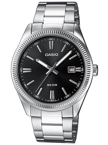 Casio Herrenuhr Schwarz / Silber