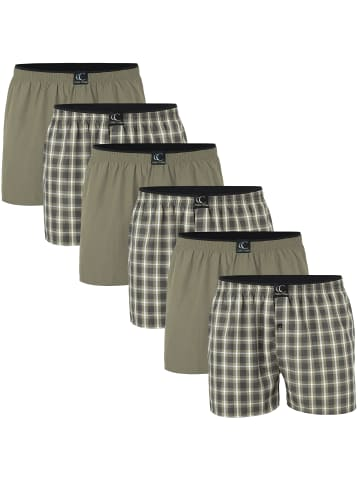 Clark Crown® Web-Boxershorts 6er Pack in khaki