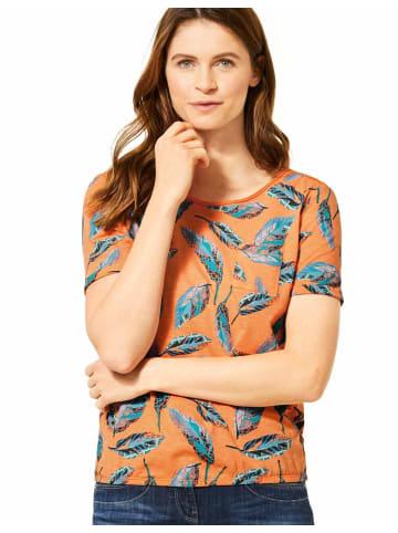 Cecil Rundhals T-Shirt in orange