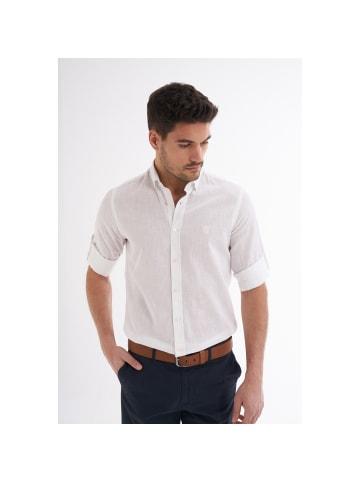 JIMMY SANDERS Leinenhemd Ric in Weiß