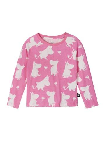 """Reima Longsleeve """" Moomin Smultron """" in Pop pink"""