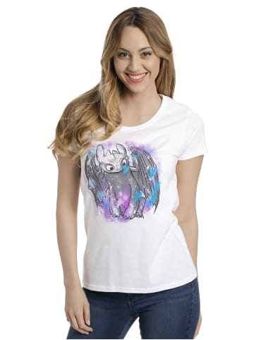 DRAGONS T-Shirt Toothless Colored in weiss