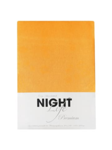 Nightlife Spannbettlaken, Jersey, orange, 100 x 200 cm
