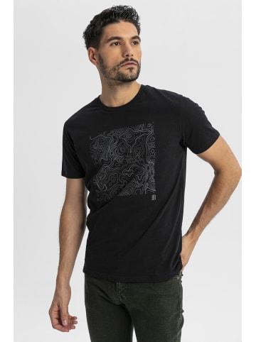 Boris Becker T-Shirt mit coolem Frontprint in schwarz