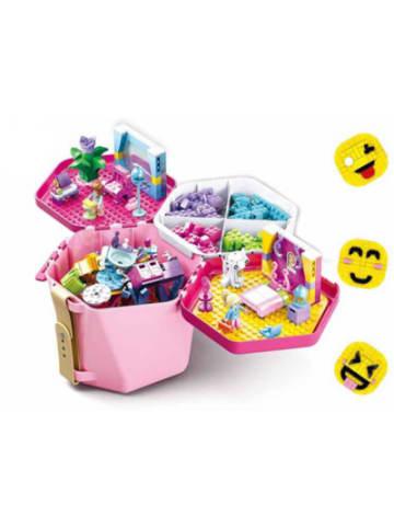 Sluban Spiel- & Transporteimer Pink (inkl. 348 Teile)