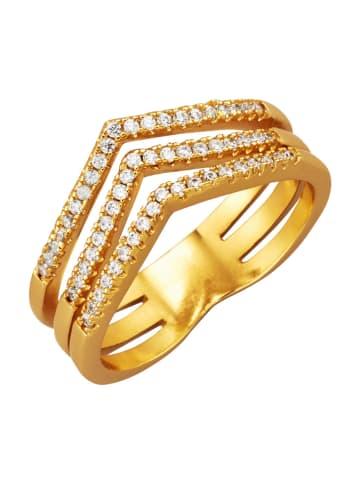 Golden Style Damenring 3rhg. in Gelbgoldfarben