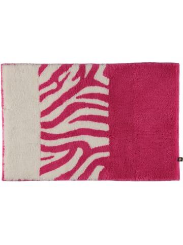 Rhomtuft Badteppiche Zebra in fuchsia/weiss - 1403