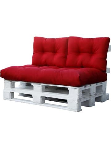 Aspero Palettenkissen Set 3-teilig in Rot