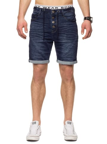 Sublevel Bermuda Sweat Jeans Shorts Stretch Pants in Dunkelblau-Variante 2