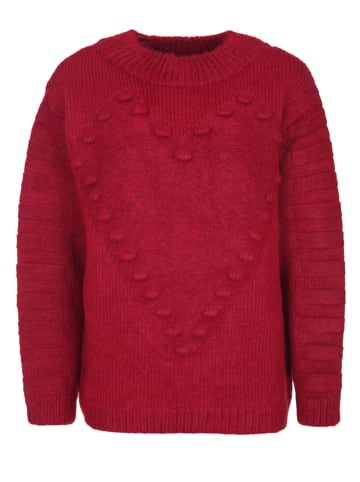 Miss goodlife Strickpullover Heart Knitted in red