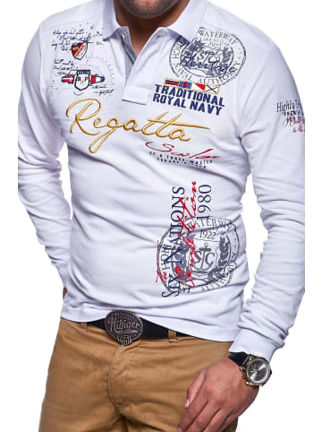 Behype Poloshirt REGATTA in weiß