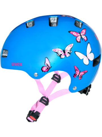 Uvex Fahrradhelm kid 3 butterfly Gr. 51-55, metallicblau