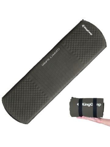 KingCamp Isomatte Compact Super selbstaufblasend in Hellgrau