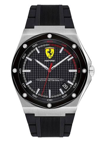 Scuderia Ferrari Analog Uhr 'Aspire' in Schwarz/Schwarz