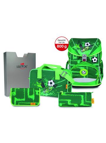 DerDieDas ErgoFlex Schulranzen-Set 5tlg. in green goal