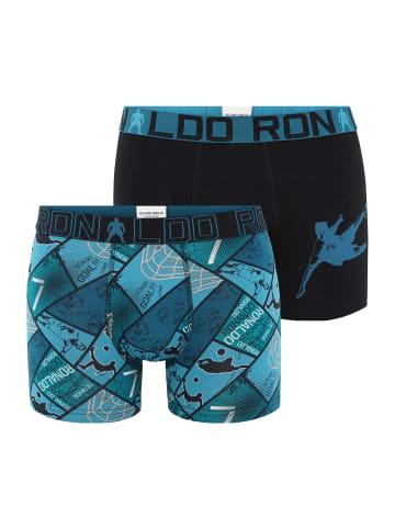 CR7 Retro Pants BOYS in Blau/Schwarz (526)