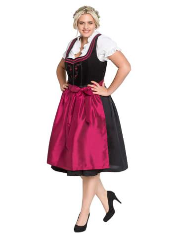 Sheego Dirndl in schwarz-rot