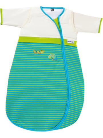 Gesslein Schlafsack Bubou, Krokodil, gestreift blau/grün