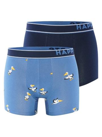 Happy Shorts Retro Pants 2-Pack in Pelikan