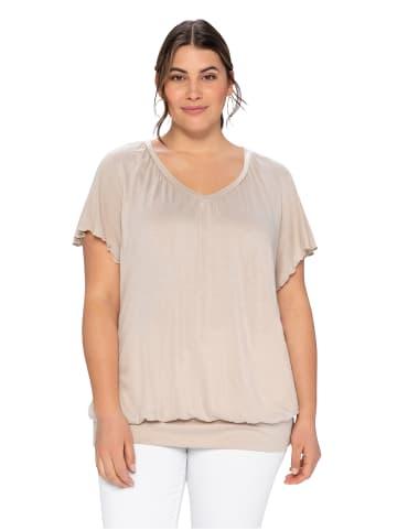 Sheego T-Shirt in beigefarben
