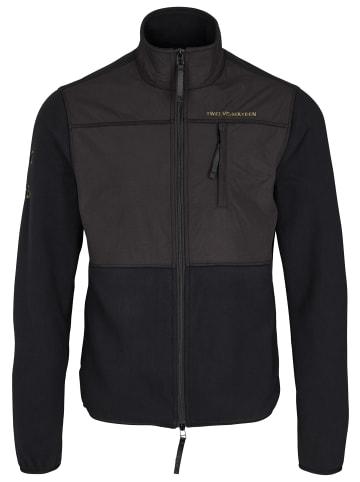 Twelvesixteen 12.16 Fleecejacke Fleece Jacket Black in black
